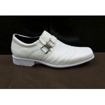 Sapato Masculino Couro Enfermagem Branco Preto