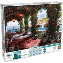 Quebra-cabeça Puzzle Tarde Na Varanda 5.000 Peças - Grow