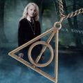 Colar Harry Potter Relíquias Da Morte Cor Bronze