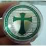 A73 Moeda/medalha Cavaleiros Templários 40mm Prata/verde