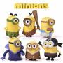 Minons - Conjunto Com 6 Personagens - Pronta Entrega!