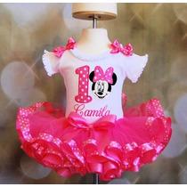 Fantasia Conjunto Tutu Minnie Pink Luxo