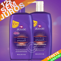 Kit Aussie Smooth Shampoo + Condicionador 865ml