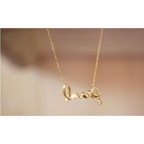 Colar Love Ouro Um Belo Presente Dia Dos Namorados F. Barato