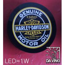 Luminoso Harley Davidson 43cm Iluminaç Em Led Fonte Incluso