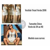 Vestido Juju Salimeni Tricô/crochê Curto Panicat Novo