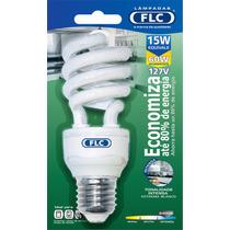 10 Lampadas Fluorescente Espiral 15w Branca Fria Flc
