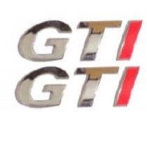 2 Emblemas Gti 2 Unidades + Brinde Gol Golf Saveiro Parati