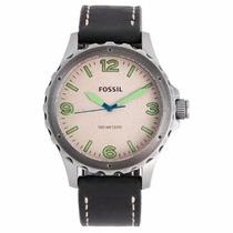 Relógio Fossil Jr1461/0cn Pulseira Couro Cronógrafo Novo Nfe