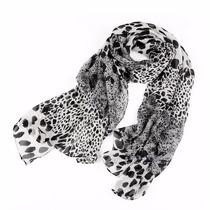 Echarpe Lenço Feminino Leopardo Onça Preto Bran Melhor Preço