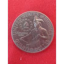 Moeda Quarter Dollar Bi Centenário Independência Eua 1976