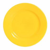 Conjunto 6 Pratos Rasos Em Cerâmica Standard Amarelo Lima