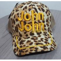Bone John John Feminino De Oncinha Bordado