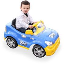 Carro Elétrico Sout Car Com Rádio Controle Azul Homeplay