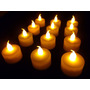 Kit 24 Velas Decorativas Led Amarelo Bateria Ag10 Inclusas