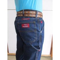 Calça Carpinteira Jeans Azul Amaciada C Lycra Stilo Country