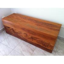 Baú Calçadeira Madeira Maciça Casal 138x45x45cm