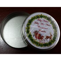 Lembrança Natal Latinha Personalizada Antecipe Kit C/ 100