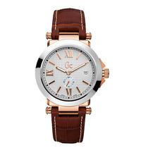 Relógio Guess Gc X61002g1 Puls Couro Garantia 12x Sem Juros