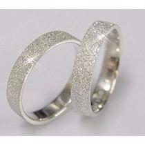 Par De Alianças Prata Namoro Compromisso Diamantado