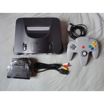 Nintendo 64 Zerado + 1 Controle + 1 Fita Mario 64