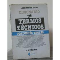 Dicionário Termos Técnicos Vol 3 Luiz Antas Frete Grátis