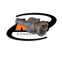 Conector Bnc 75 Ohms Macho Reto Cabo Crimpagem 0.4/2.5 Lm-74