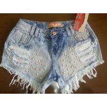 Short´s Jeans For Use Todo Detalhado Em Rebites