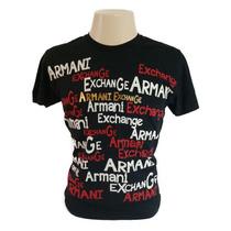 Camisa Camiseta Armani Exchange M 100% Algodão Original Adm