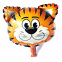 Balão Metalizado Safari Tigre P/ Centro De Mesa - Kit C/ 4