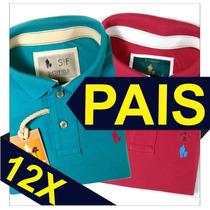 Kit 2 Camisas Polo Sheepfyeld Original Dica Dia Dos Pais