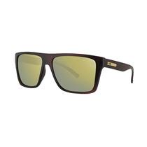 Óculos De Sol Hb Floyd Matte Brown Gold Chrome Lenses