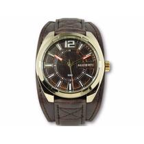 Relógio Masculino Bracelete De Couro Marinus