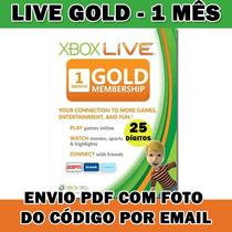 Xbox 360 Live Gold - Cartão 1 Mês - Original - 25 Dígitos