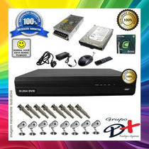 Kit 8 Cameras Infra Sony / Dvr 8 Canais / Hd 500gb Completo