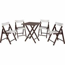 Conjunto Mesa/cadeira Potenza Tabaco C/branco Tramontina