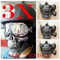 3x Mascara Caveira - Kit Com 3 Mascaras
