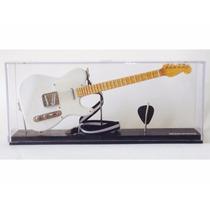 Miniatura De Guitarra Telecaster Branc Acrílico 1:4 Tudomini