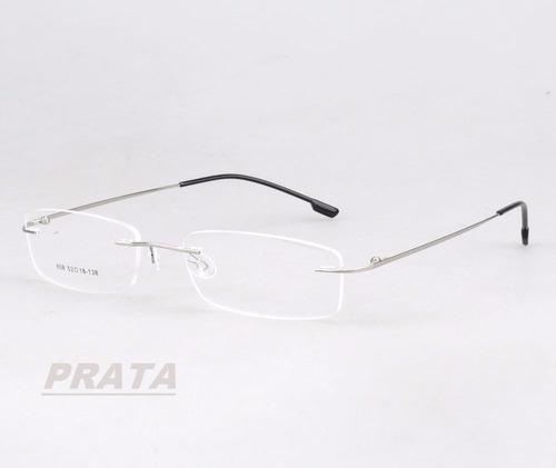 dbe6b81df Armação P/ Óculos De Grau Sem Aro Em Titânio Memory 9 Cores à venda ...