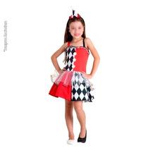 Fantasia Alerquina Infantil - Modelo Exclusivo - Em Promoção