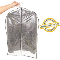 Capa De Plástico Para Roupas Com Zíper 60x90cm