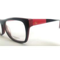 Armação Óculos De Grau Feminina Preta E Vermelha Ana M343
