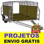 Projeto Carretinha Reboque Fechada Trucada - Frete Gratis