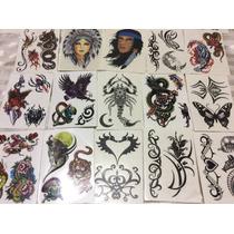 Kit Com 10 Cartelas De Tatuagem Temporária Sortidas