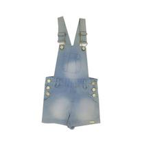 Macaquinho Jeans Feminino Infantil Tamanho 4