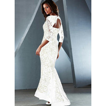 Vestido De Noiva Longo Sereia Rendado Lindo Pronta Entrega