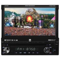 Dvd P/ Carro Retratil Tela 7 C/ Usb Radio Am Fm Cd Mp3 Sd