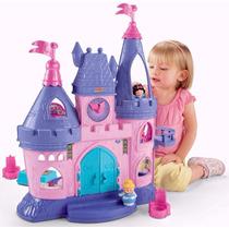 Fisher Price Little People Castelo Musical Princesas Disney