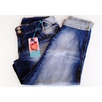 Calça Feminina Jeans Manchada Claro Tamanho Grande Emporio