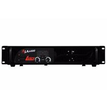Amplificador Potência De Som 1000 Watts 4 Ohms Leacs La 6000